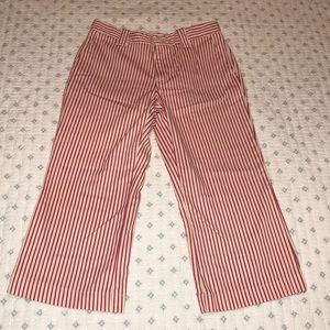Red and white striped Capri pants for kids by GAP